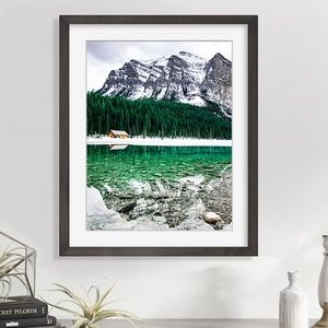 New original art Lake Louise Alberta Rockies print